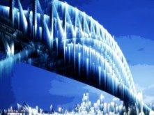 Sydney Bridge in Ice Age