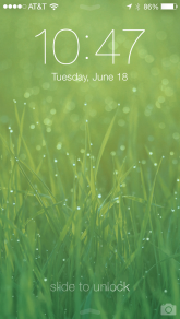 New lock screen with parallax (moving) wallpaper