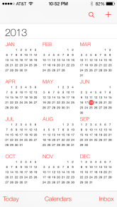 Nice year long view in calendar. No new features. But they improved some views.
