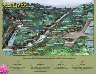 Bushkill Falls Trail Map
